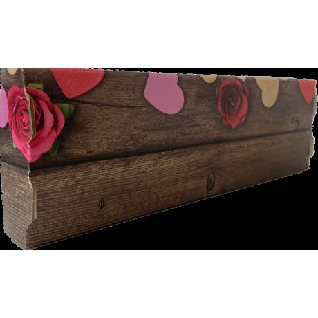 Caja Cuadrada 10x10 con Mica  Corazón